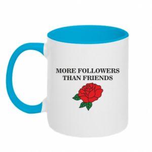 Kubek dwukolorowy More followers than friends