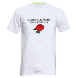 Męska koszulka sportowa More followers than friends