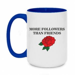Kubek dwukolorowy 450ml More followers than friends