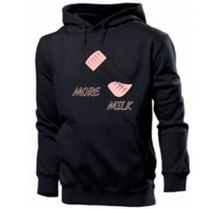 Men's hoodie More milk