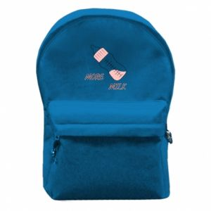 Backpack with front pocket More milk