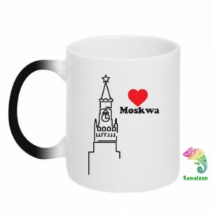 Chameleon mugs Moscow, I love you