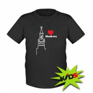 Dziecięcy T-shirt Moskwa, kocham cię