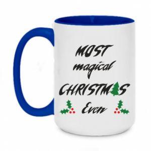 Two-toned mug 450ml Most magical Christmas ever