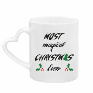 Kubek z uchwytem w kształcie serca Most magical Christmas ever
