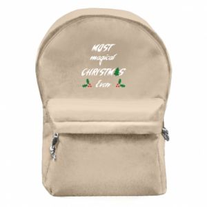 Backpack with front pocket Most magical Christmas ever