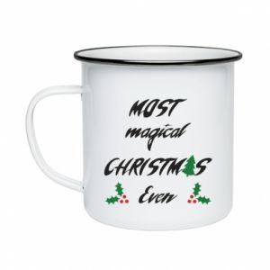 Enameled mug Most magical Christmas ever