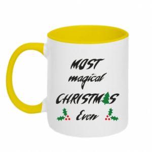 Two-toned mug Most magical Christmas ever