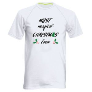 Men's sports t-shirt Most magical Christmas ever