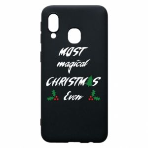 Phone case for Samsung A40 Most magical Christmas ever