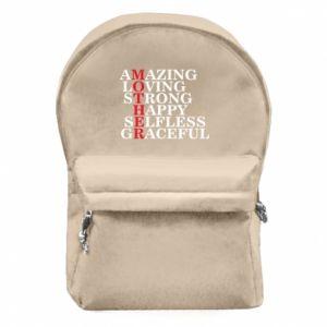 Plecak z przednią kieszenią MOTHER - PrintSalon