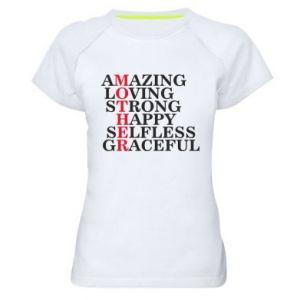 Damska koszulka sportowa MOTHER - PrintSalon