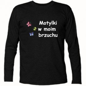 Koszulka z długim rękawem Motylki w moim brzuchu - PrintSalon