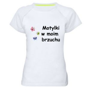 Women's sports t-shirt Motilki in my stomach