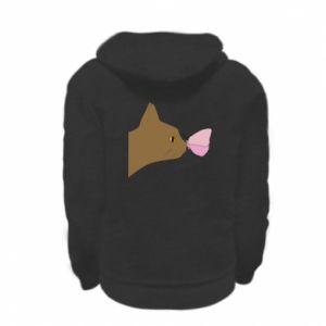 Bluza na zamek dziecięca Motyl na nosie kota