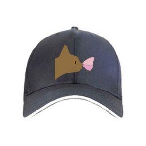 Czapka Motyl na nosie kota