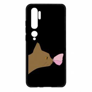 Etui na Xiaomi Mi Note 10 Motyl na nosie kota