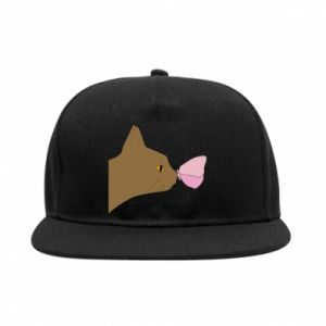 SnapBack Butterfly on the cat's nose