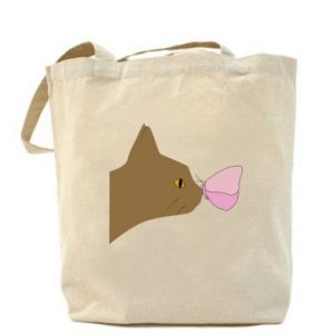 Bag Butterfly on the cat's nose