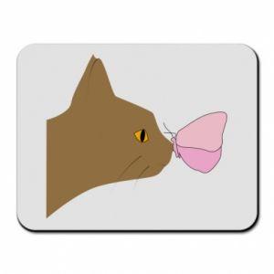 Podkładka pod mysz Motyl na nosie kota