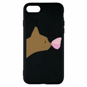 Etui na iPhone 8 Motyl na nosie kota