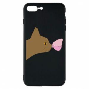 Etui na iPhone 8 Plus Motyl na nosie kota