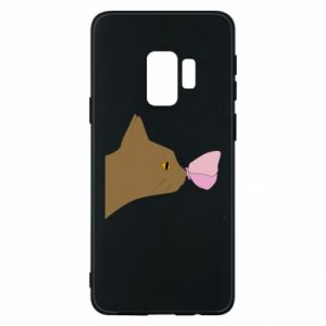 Etui na Samsung S9 Motyl na nosie kota