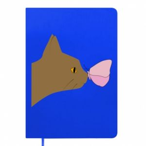 Notes Motyl na nosie kota