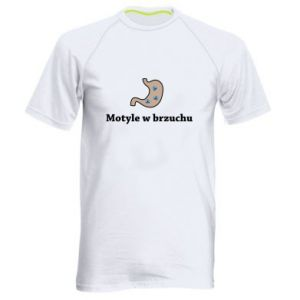 Men's sports t-shirt Motyle w brzuchu