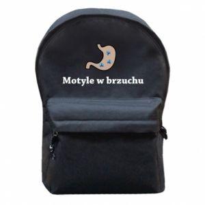 Plecak z przednią kieszenią Motyle w brzuchu