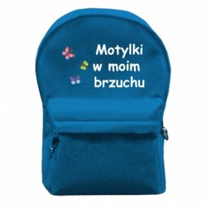Backpack with front pocket Motilki in my stomach