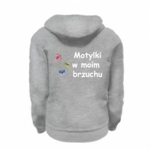 Kid's zipped hoodie % print% Motilki in my stomach