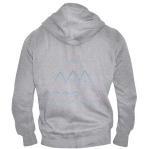 Men's zip up hoodie Mountains and the sea - PrintSalon