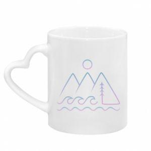 Kubek z uchwytem w kształcie serca Mountains and the sea