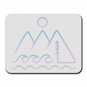 Mouse pad Mountains and the sea