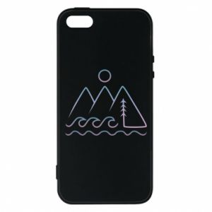 Phone case for iPhone 5/5S/SE Mountains and the sea - PrintSalon