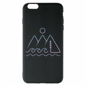 Phone case for iPhone 6 Plus/6S Plus Mountains and the sea - PrintSalon