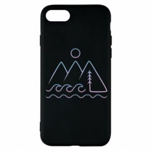 Phone case for iPhone 7 Mountains and the sea - PrintSalon