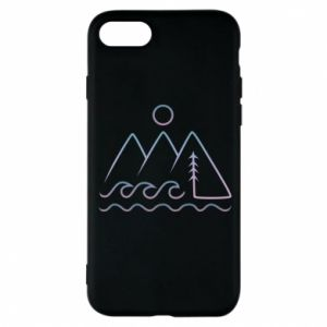 Phone case for iPhone 8 Mountains and the sea - PrintSalon