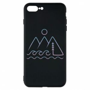 Phone case for iPhone 8 Plus Mountains and the sea - PrintSalon