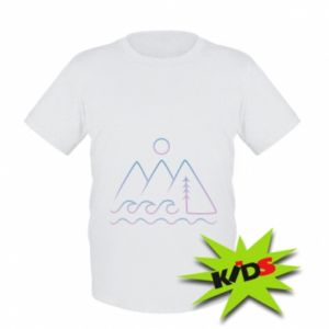 Dziecięcy T-shirt Mountains and the sea