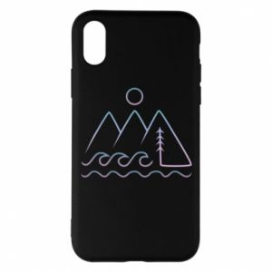 Phone case for iPhone X/Xs Mountains and the sea - PrintSalon