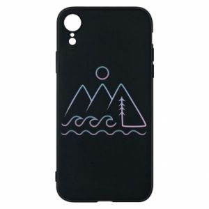 Phone case for iPhone XR Mountains and the sea - PrintSalon