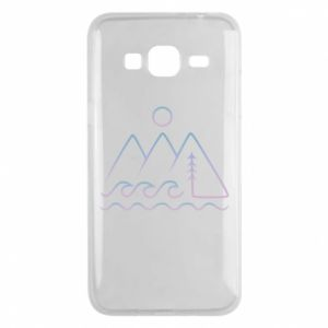 Phone case for Samsung J3 2016 Mountains and the sea - PrintSalon