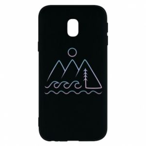 Phone case for Samsung J3 2017 Mountains and the sea - PrintSalon