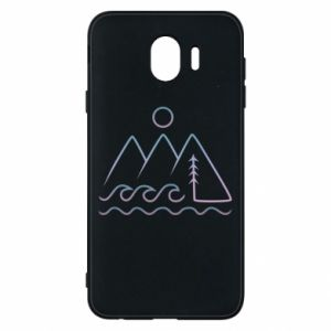 Phone case for Samsung J4 Mountains and the sea - PrintSalon