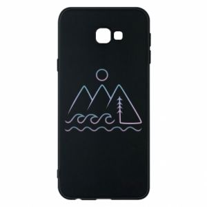 Phone case for Samsung J4 Plus 2018 Mountains and the sea - PrintSalon