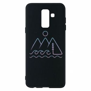 Phone case for Samsung A6+ 2018 Mountains and the sea - PrintSalon