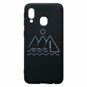 Phone case for Samsung A40 Mountains and the sea - PrintSalon