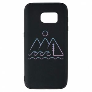 Phone case for Samsung S7 Mountains and the sea - PrintSalon